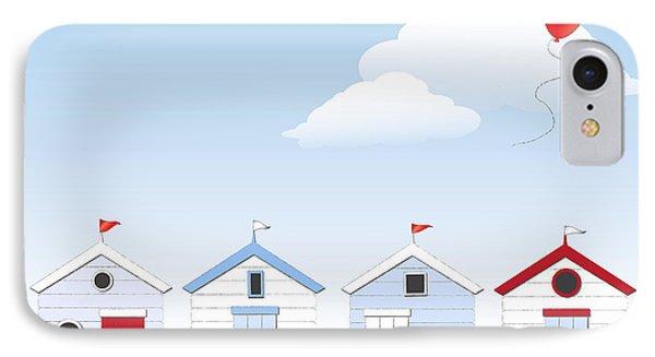 Beach Huts IPhone Case by Jane Rix