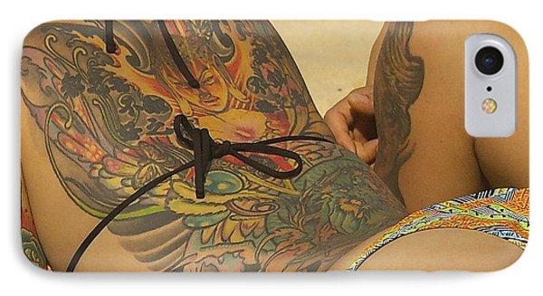 Beach Tattoo IPhone Case by Stuart Litoff