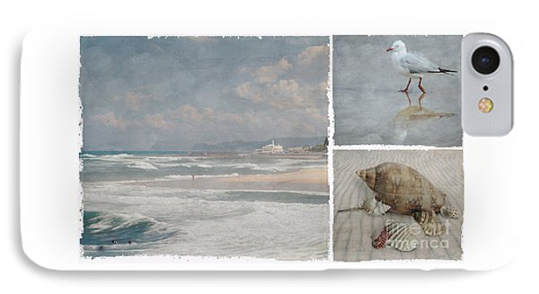 Beach Triptych 1 IPhone Case by Linda Lees