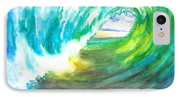 Beach View From Wave Barrel Phone Case by Carlin Blahnik