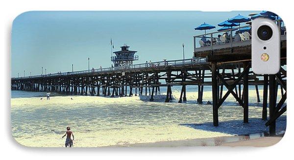 Beach View With Pier 1 Phone Case by Ben and Raisa Gertsberg