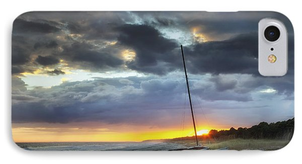 Beached For The Night Phone Case by Phill Doherty