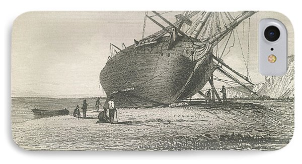 Beagle Laid Ashore IPhone Case by British Library