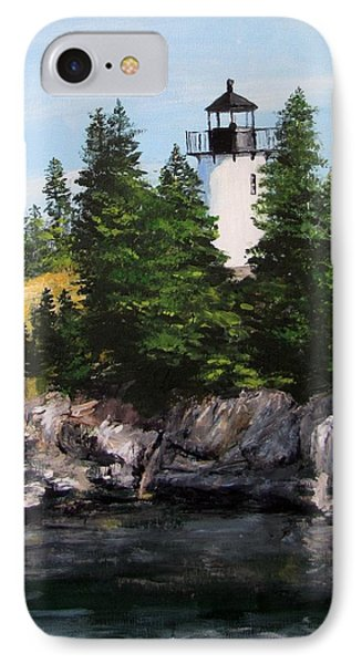 Bear Island Lighthouse IPhone Case by Jack Skinner