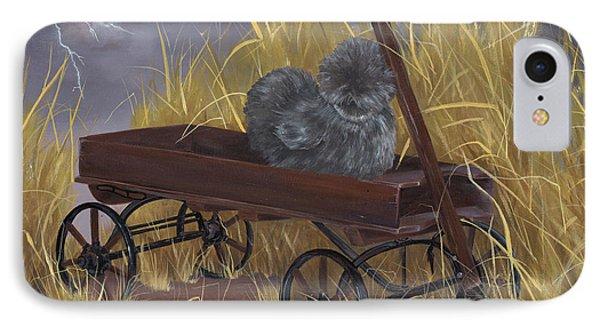 Bearded Grey Silkie Hen IPhone Case by Gilda Goodwin
