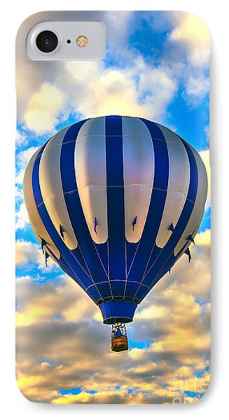 Beautiful Blue Hot Air Balloon IPhone Case by Robert Bales