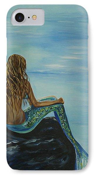 Beautiful Magic Mermaid IPhone 7 Case by Leslie Allen