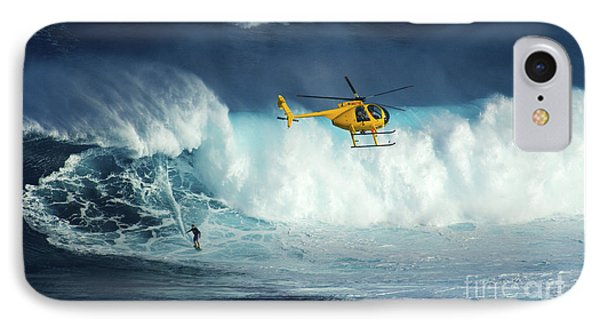 Beauty Of Surfing Jaws Maui 4 IPhone Case by Bob Christopher