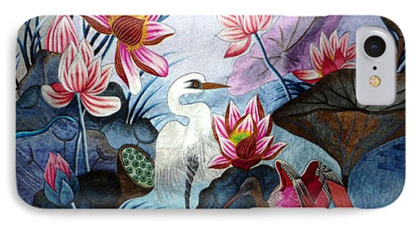 Beauty Of The Lake Hand Embroidery Phone Case by To-Tam Gerwe
