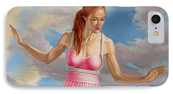 Becca In Pink IPhone Case by Paul Krapf