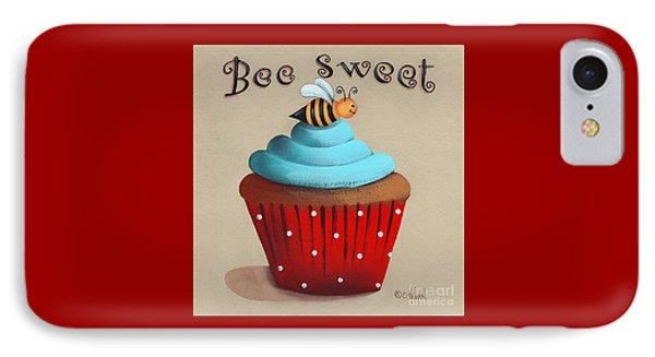 Bee Sweet Cupcake IPhone Case by Catherine Holman
