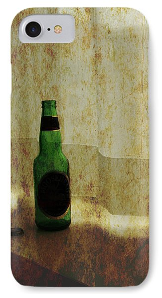 Beer Bottle On Windowsill Phone Case by Randall Nyhof