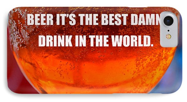Beer Quote By Jack Nicholson IPhone Case by David Lee Thompson