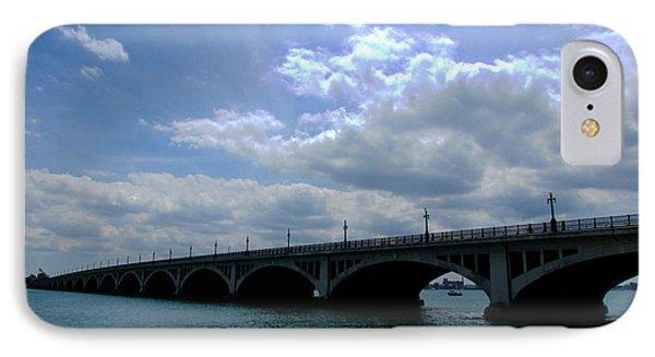 Belle Isle Bridge Detroit Phone Case by Michael Rucker