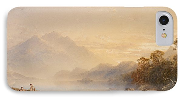 Ben Venue And The Trossachs Seen From Loch Achray Phone Case by Anthony Vandyke Copley Fielding