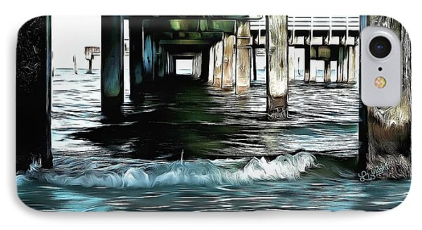 Beneath The Pier  IPhone Case by L Wright