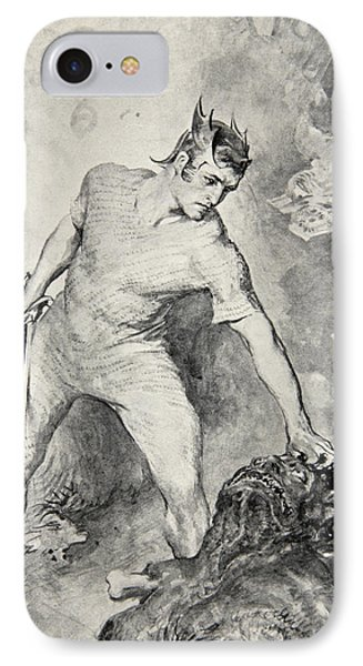 Beowulf Shears Off The Head Of Grendel IPhone Case by John Henry Frederick Bacon