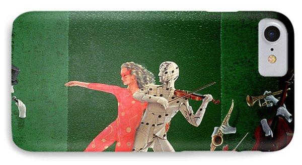 Berkley Hotel Murals - 2 IPhone Case by Lincoln Seligman