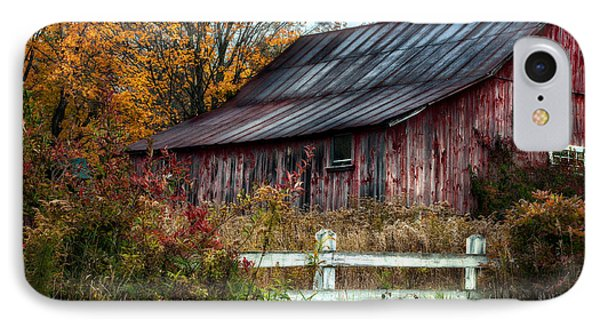 Berkshire Autumn - Old Barn Series   Phone Case by Thomas Schoeller