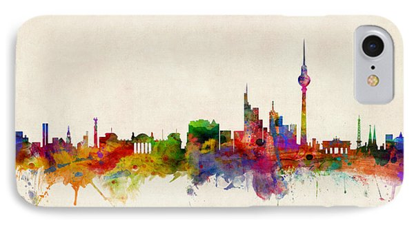 Berlin City Skyline IPhone 7 Case by Michael Tompsett