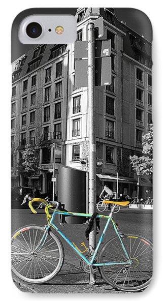 Berlin Street View With Bianchi Bike Phone Case by Ben and Raisa Gertsberg