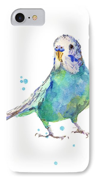 Bertie Wonderblue The Budgie IPhone Case by Alison Fennell