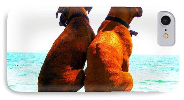 Best Friends Dog Photograph Fine Art Print Phone Case by Laura  Carter