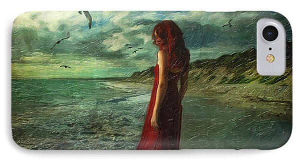 Between Sea And Shore Phone Case by Lianne Schneider