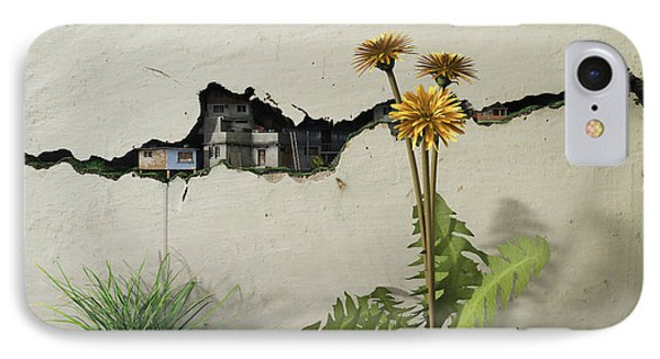 Between The Cracks IPhone Case by Cynthia Decker
