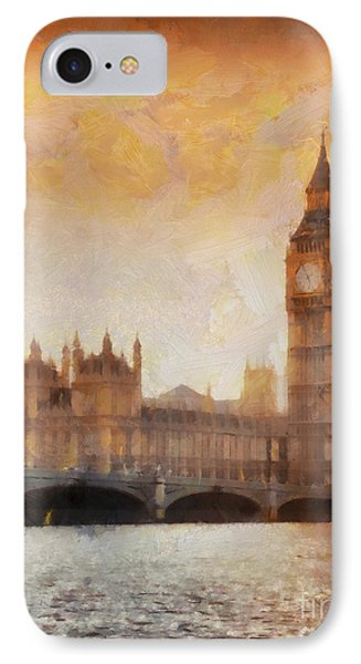 Big Ben At Dusk IPhone Case by Pixel Chimp