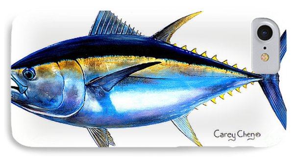 Big Eye Tuna IPhone Case by Carey Chen