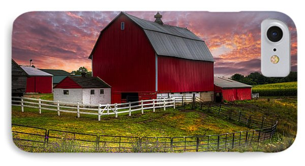 Big Red At Sunset Phone Case by Debra and Dave Vanderlaan