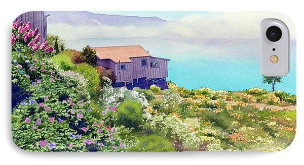 Big Sur Cottage IPhone Case by Mary Helmreich