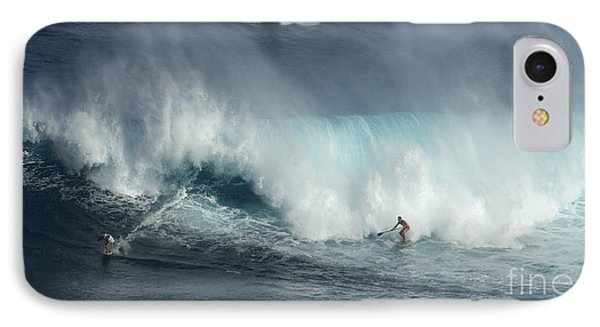 Big Wave Surfers Maui IPhone Case by Bob Christopher