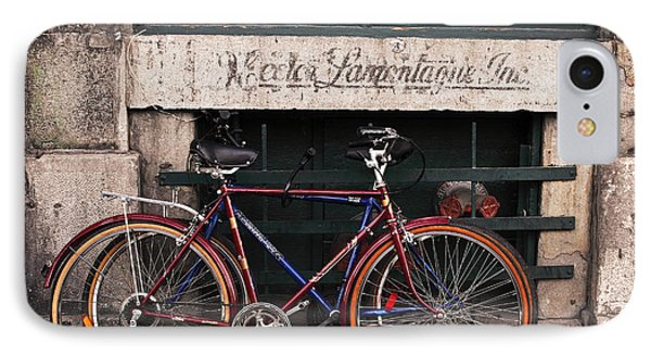 Bikes In Old Montreal IPhone Case by John Rizzuto