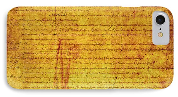 Bill Of Rights IPhone Case by Daniel Hagerman