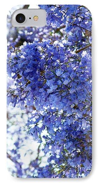 Billowy Jacaranda Blossom IPhone Case by Gwyn Newcombe