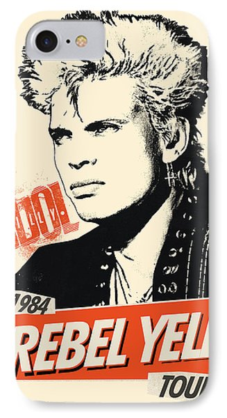 Billy Idol - Rebel Yell Tour 1984 IPhone Case by Epic Rights