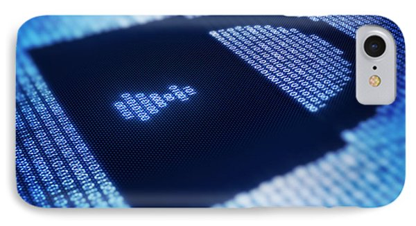 Electronic Data Security IPhone Case by Johan Swanepoel