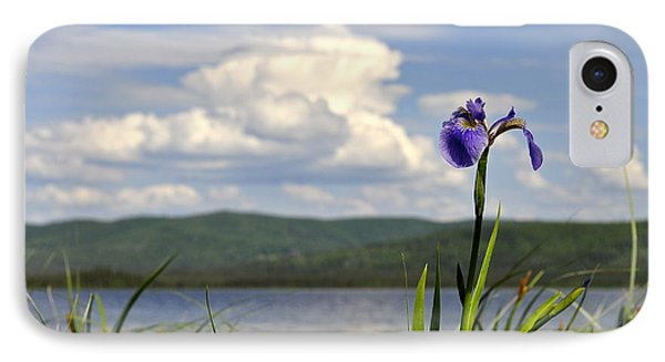Birch Lake Iris Phone Case by Cathy Mahnke