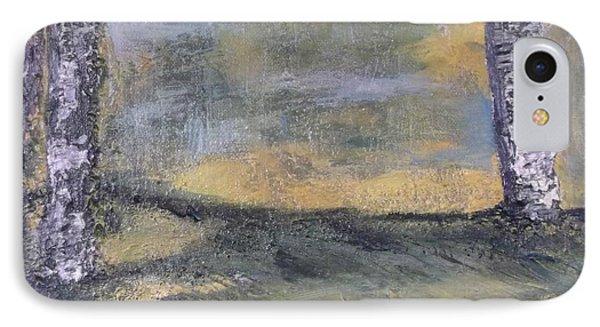 Birch Landscape Phone Case by Karen Lillard
