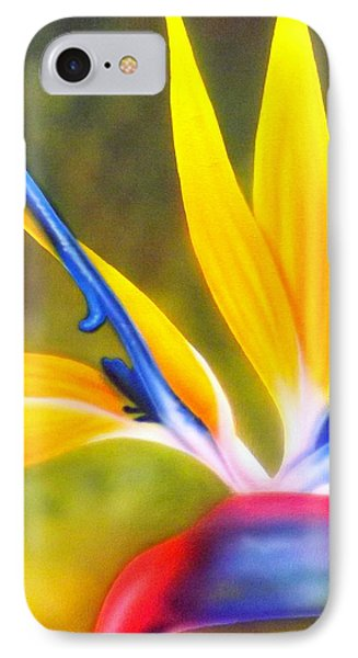 Bird Of Paradise Revisited Phone Case by Darren Robinson