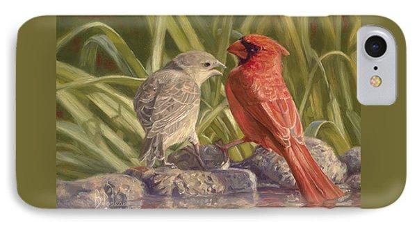 Bird Talk IPhone Case by Lucie Bilodeau