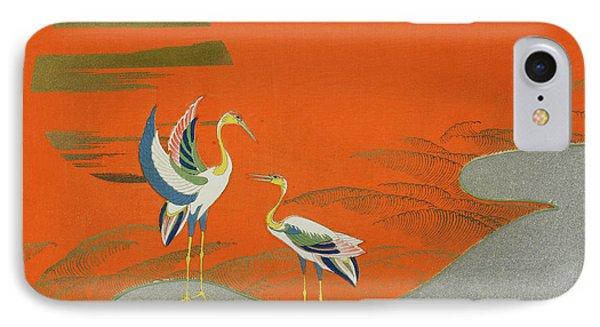 Birds At Sunset On The Lake IPhone 7 Case by Kamisaka Sekka