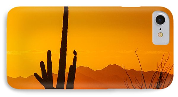 Birds In Silhouette Phone Case by Penny Lisowski