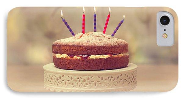 Birthday Cake IPhone Case by Amanda Elwell