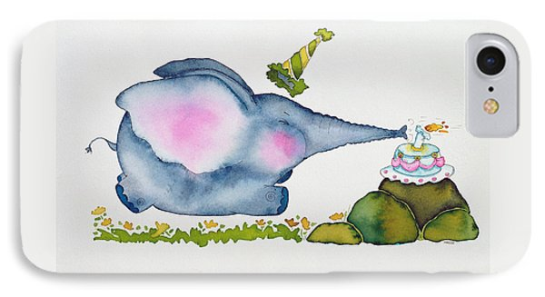 Birthday Elephant IPhone Case by Maylee Christie