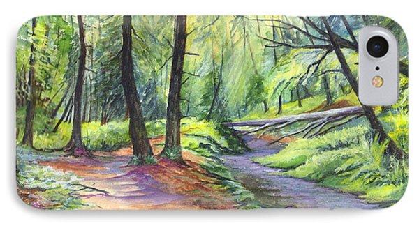 Birthday Wishes-a Woodland Path Phone Case by Carol Wisniewski