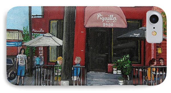 Bistro Piquillo In Verdun IPhone Case by Reb Frost