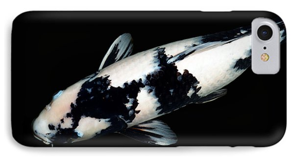 Black And White Koi IPhone 7 Case by Rebecca Cozart